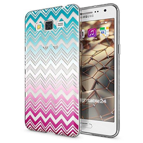 NALIA Funda Carcasa Compatible con Samsung Galaxy Grand Prime, Motivo Design Movil Protectora Fina Carcasa Silicona Cubierta, Goma Estuche Telefono Bumper Cover Case, Designs:Colorful Lines