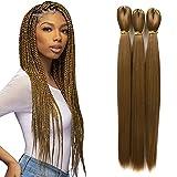 Darling Thrive Braid Pre-stretched Braiding Hair Extensions (4 Packs), 100% Kanekalon Hair, 3X per Pack, 52 Inch, #27