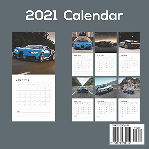Dream Cars 2021 Wall Calendar: Official Luxury Cars 2021 Calendar