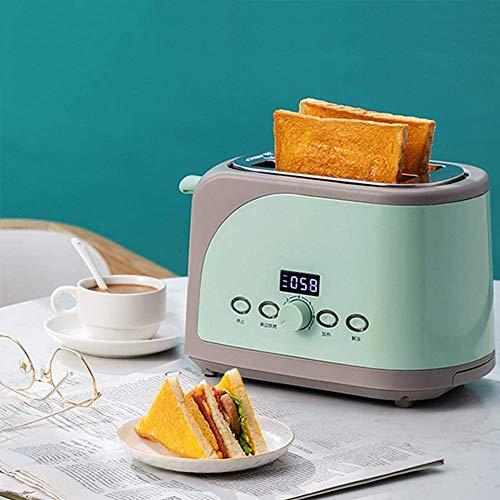 Haushalt Toaster 2 Slice, Digital Timer Elektrischer Toaster Sandwich Maker Automatischer Brot Toast Ofen Frühstück Backmaschine Toast Boost, Coole Wand