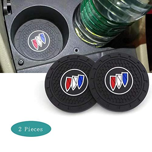 SHENGYAWAUTO Car Interior Accessories Cup Holder,Anti Slip Cup Mat Insert for Buick All Models 2 Packs,2.75 inch
