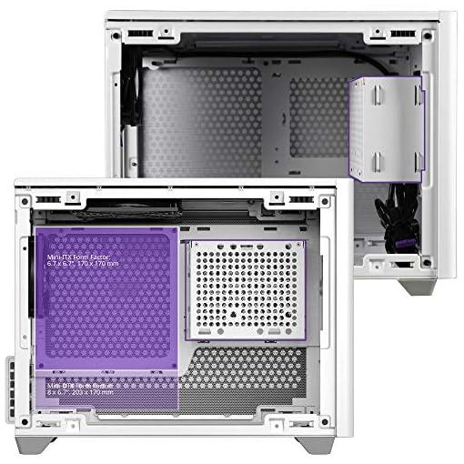 Cooler Master NR200 Caja Mini-ITX de Factor de Forma pequeño SFF Blanco con Panel ventilado, GPU de Triple Ranura, sin… 12