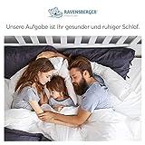 RAVENSBERGER STRUKTURA-MED® 60 | 7-Zonen-HR-Premium-Kaltschaummatratze | H3 RG 60 (80-120 kg) | Made IN Germany – 10 Jahre Garantie | Baumwoll-Doppeltuch-Bezug | 90 x 200 cm - 7