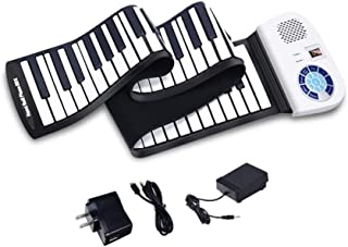 $80 » Hand Roll Piano 88 Keys, Natural Silicone, Thickened Keys, Portable Intelligent Keyboard, 128 Sounds, 128 Rhythms, Children's Beginners Hand Roll Piano