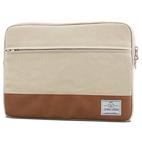 Johnny Urban MacBook Pro 13 (2020-2016) Hülle, MacBook Air (2020-2018) Tasche Beige Laptop Sleeve aus Baumwoll Canvas Laptoptasche fürs MacBook Pro 13, MacBook Air, 11-12 Zoll Notebooks