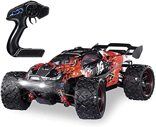 1/18 Scale RC Car, 4 × 4 Coches de Juguete de Hobby Off-Road 60km / h Camión de Escalada Bigfoot, vehículo de Control Remoto de 2.4 GHz para Adulto, con Motor sin escobillas y Faros