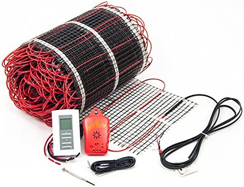 Electric Floor Heat Tile Radiant Warm Heated Kt 15 Mat with Aube Prog Thermostat