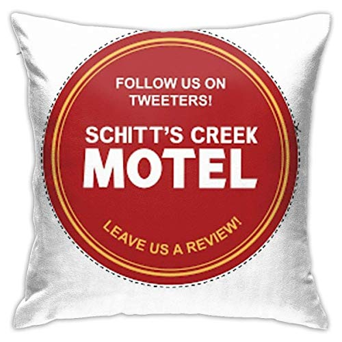 WH-CLA Cushion Case Schitts Creek Find Us On Tweeters Coaster Durable Office Couch Pillow Covers Sofa Pillow Case Gift Couch Cushions Sofa Soft Bedroom 45X45Cm Zipper Personalized Anime