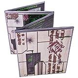 Stratagem The Master's Tome, pantalla GM personalizable de 4 paneles con insertos gratis – borrado en seco, mazmorra y accesorio de juego para campañas RPG de mesa (Sci-fi Silver)