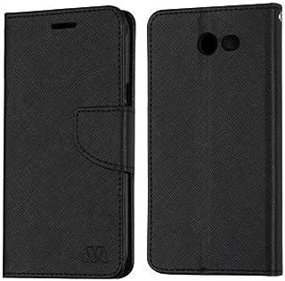 Luckiefind Compatible with Samsung Galaxy J3 Emerge/J3 Prime/J3 Mission/J3 Eclipse/J3 Luna Pro/Sol 2/Amp Prime 2/Express Prime 2, Flip Wallet Credit Card Cover Case (Wallet Black)