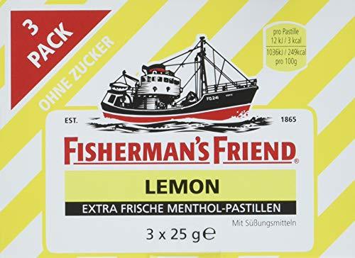 Fisherman's Friend Lemon Multipack mit 3 Beuteln Zitrone und Menthol , 14er Pack (14 x 75 g)