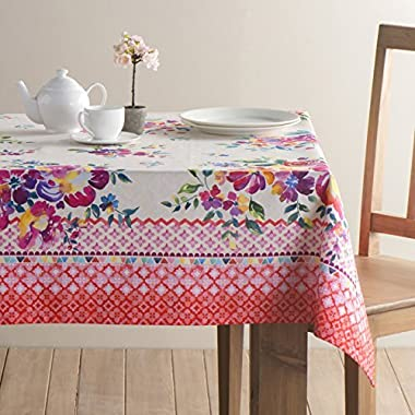 Maison d' Hermine Rose Garden 100% Cotton Tablecloth 54 Inch by 72 Inch