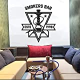 HGFDHG Etiqueta de la Pared del Club de la cachimba para la Tienda de la cachimba Barra del Fumador patrón de la Estrella calcomanía de la Pared del Arte Color sólido