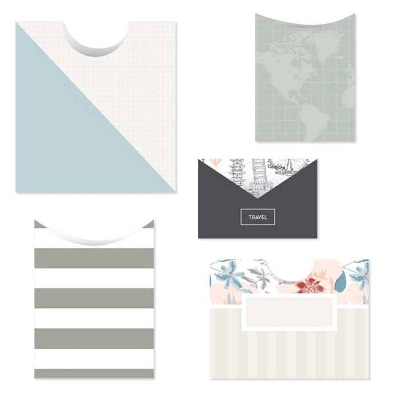 Creative Memories Travel Log Pocket Scrapbook & Stamping Embellishment 10 Double-Sided Paper Pockets