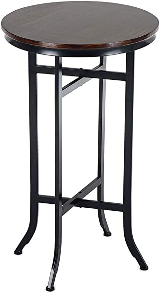 Bar Bistro Cocktail Pedestal Tables For Kitchen Dining Room Bistro Coffee Living Room Table Wood And Metal Tables Black