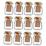 vasetti vetro per miele prezzi Contenitori a forma di bottiglia da latte con tappo di sughero. Possono contenere caramelline, coriandoli o piccoli oggetti.