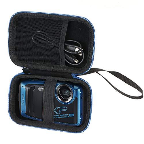 Khanka Duro Viaje Funda Case Estuche para Fujifilm FinePix XP140 - Cámara Digital Impermeable. (Cremallera Azul)