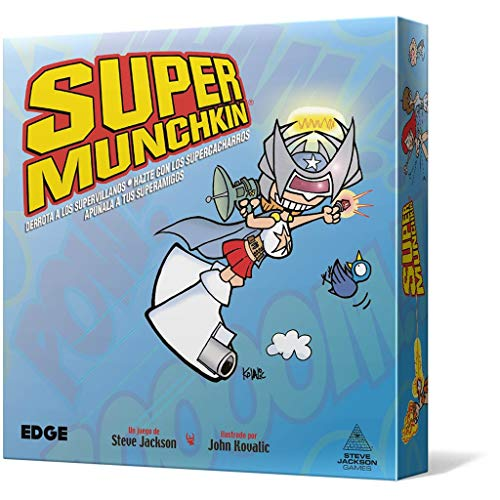 Edge Entertainment- Super Munchkin Nueva Edición, Color (EESJSU01)