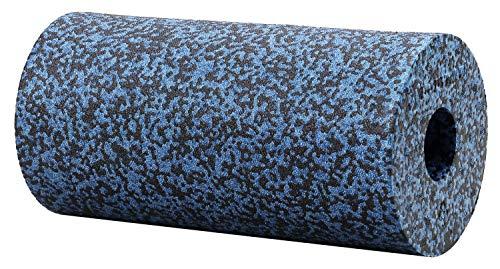 BODYMATE Faszienrolle Härtegrad Extra-Hart mit Gratis E-Book - Grau-Blau/Schwarz 30x15cm - Durchmesser 15cm