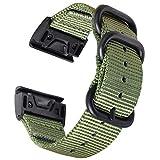 Zeit Diktator watch band for Garmin Fenix 5X/6X/3HR /MK 1/D2 Delta PX/Instinct/Forerunner 935 945/Fenix 5S/6S/Fenix 5/5 plus/Fenix 6 20mm 22mm 26mm watch strap quick release (Army green, 26mm)