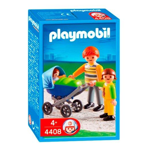PLAYMOBIL - Papá con Carrito de bebé, Set de Juego (4408)