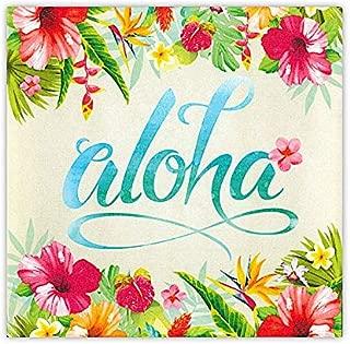 """Island Heritage Hawaiian Tropical Canvas Wall Art - Aloha Floral, 8"""" x 8"""""""