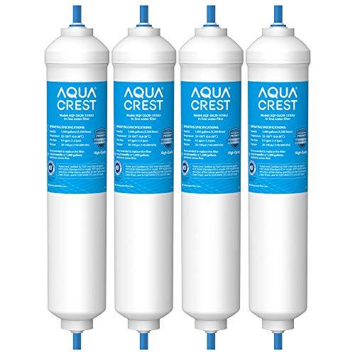 4X AQUACREST DA29-10105J In-Line Wasserfilter, Kompatibel mit Samsung Aqua-Pure Plus (nur externe) DA29-10105J HAFEX/EXP DA2010CB LG 5231JA2010B 5231JA2010A Wpro USC100/1 LG BL-9808 WSF-100, EF9603(4)