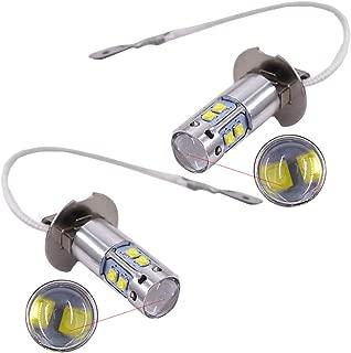 Pack of 2 Bulbs H3 6000K Super White 100W High Power LED Fog Light Driving Bulb DRL for 2000-2004 Toyota Corolla