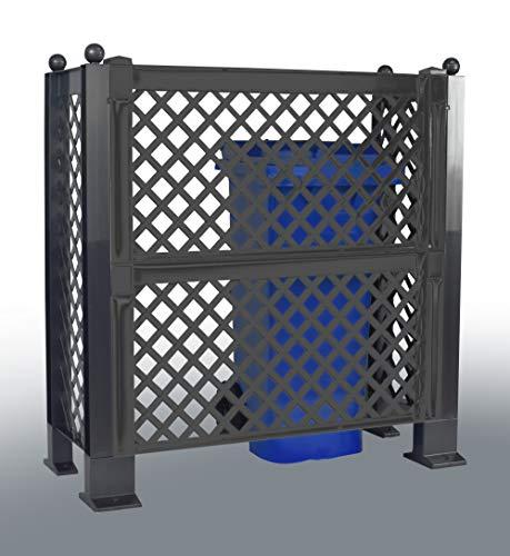 KHW Mülltonnen - Spalier, anthrazit 110 x 49 x 149 cm - Sichtschutz für Mülltonnen
