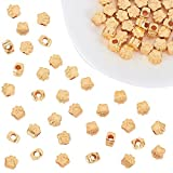 PandaHall 60 piezas de oro de la huella de la pata del perro 11mm huella de la pata del cachorro gran agujero de metal encanto para la fabricación de joyas de pulsera europea