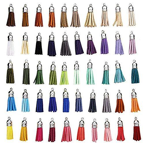 50 Piezas Colgantes De Borlas, Mini Borla De 38 Mm, Borla Multicolor, Para La Correa De La Cadena De ArtesaníA De Joyas, DecoracióN De Accesorios De Bricolaje, Colores Mezclados