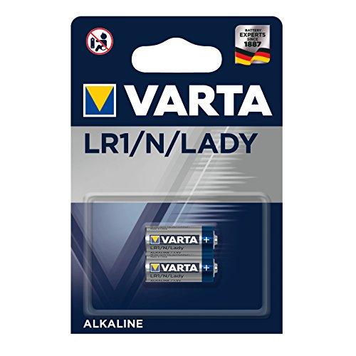 VARTA Batterien Electronics LR1/N/Lady 1er Pack Alkaline Zelle 2er Pack in Original 1er Blisterverpackung