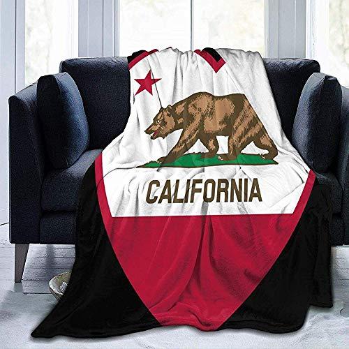 Clipart California Flag Heart Black Sherpa Decke Bequeme Flanell Fleecedecke Bequeme Wärmedecken Durable Warm Sofa Blanket