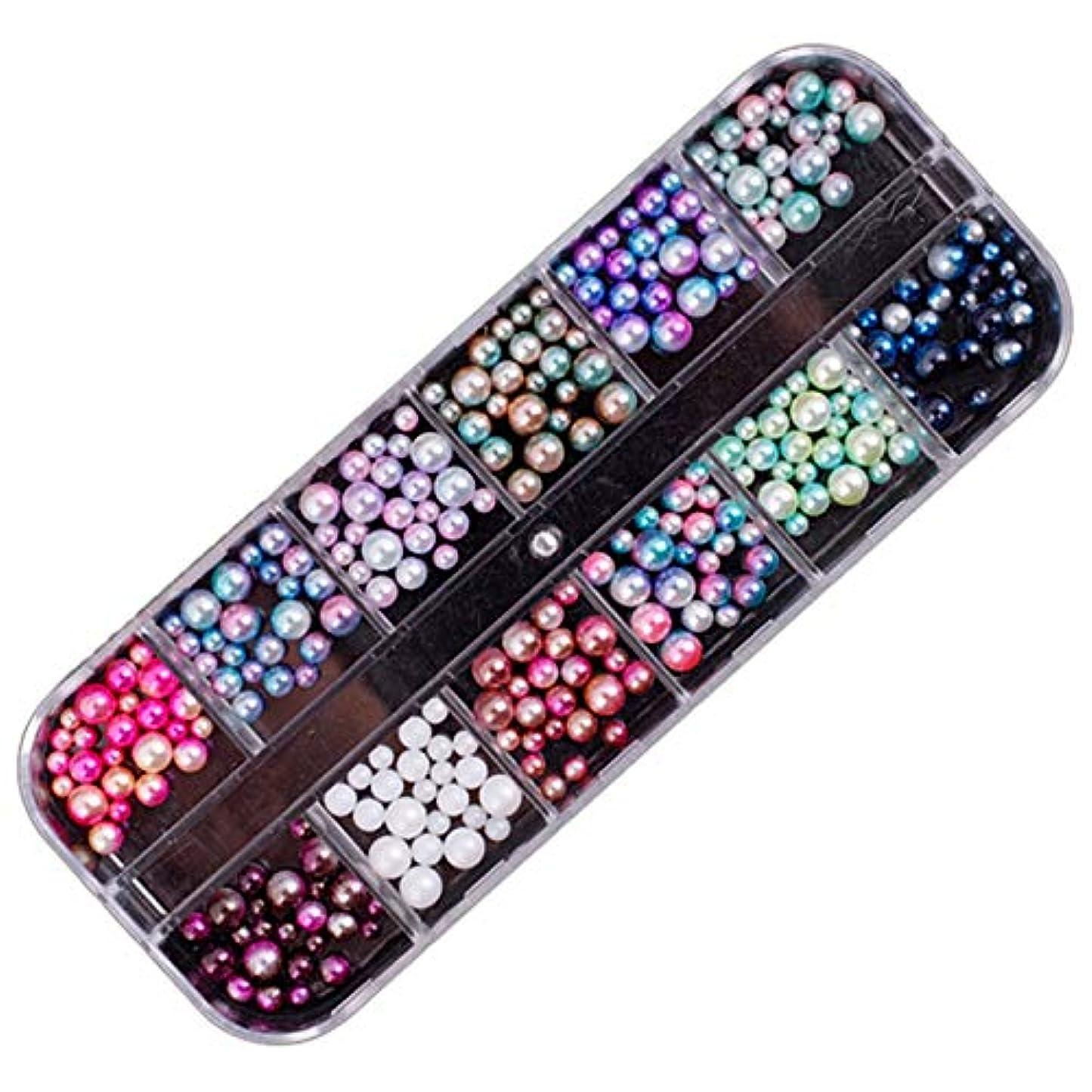 に頼るわずかに気を散らすTOOGOO 3D形作り 新しいネイル クリアなネイル 真珠 diy ネイルアート 装飾的なリベット ラインストーン マニキュア-ツール 1# 混合魔法真珠