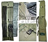 Carp Fishing Very Padded Rod Holdall Bag For 3 Made Up & 3 Unmade Rods & Reels Made By NGT