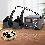 InLoveArts Máquina de pirograbado 60W, 2 bolígrafos, 23 puntas de alambre de pirograbado, doble puerto, pantalla digital, kit de quema de leña, control de temperatura ajustable