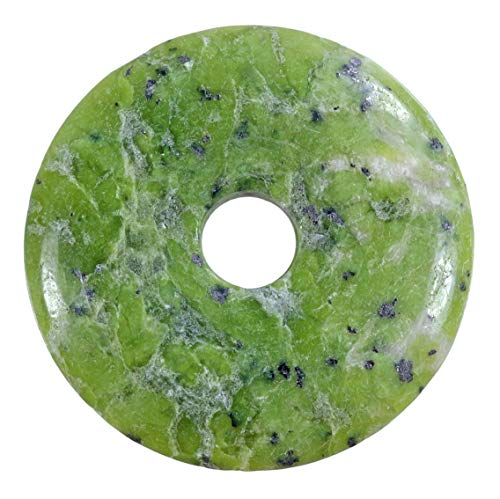 Lebensquelle Plus Lizardit grün Edelstein Donut Ø 40 mm Anhänger