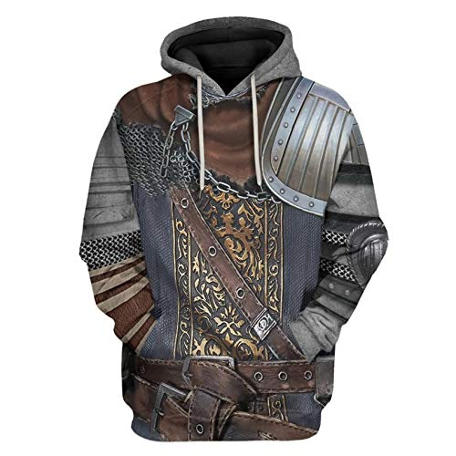 Idealcos Amiibo Cosplay Dark Solaire - Sudadera con capucha para hombre Color2 XL