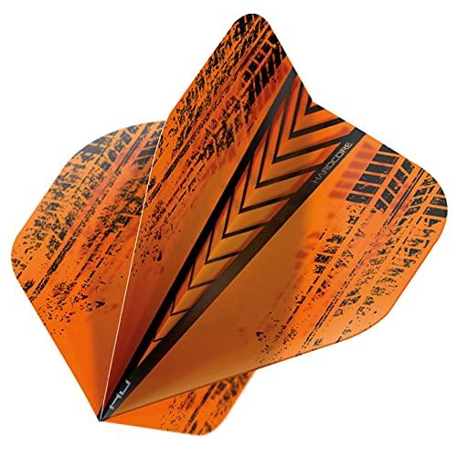 RED DRAGON Hardcore Radical Orange Extra Dicke Standard Dart Flights - 4 Sätze pro Packung (12 Flights insgesamt)
