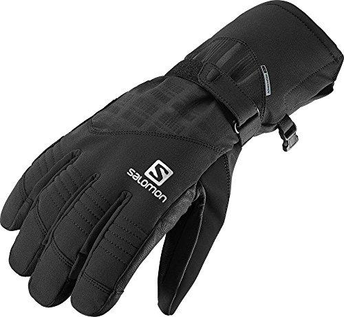 Salomon, Herren wasserdichte Ski-Handschuhe, Touchscreen kompatibel, Leder-Innenhand, PROPELLER DRY M, Größe: XXL, Schwarz, L36337300
