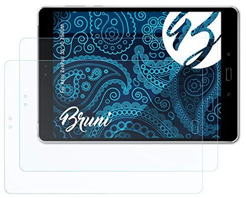 Bruni Schutzfolie kompatibel mit Asus ZenPad 3S 10 Z500M Folie, glasklare Bildschirmschutzfolie (2X)