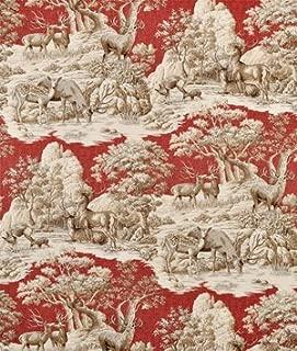Braemore Ferguson Garnet Fabric - by the Yard
