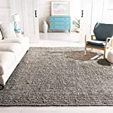 Safavieh Natural Fiber Collection NF447G Hand Woven Light Grey Jute Area Rug (8' x 10')