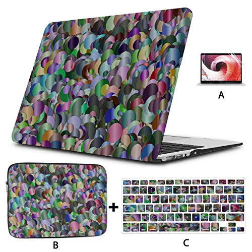 2018 Macbook Pro Case Confetti Colorful Design Artwork Laptop Hard Shell Case Hard Shell Mac Air 11'/13' Pro 13'/15'/16' With Notebook Sleeve Bag For Macbook 2008-2020 Version