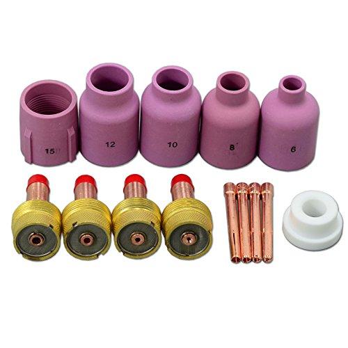 TIG PTA DB SR WP 17 18 26 de diámetro boquillas de cerámica boquilla lente de gas Collet Cuerpos 14pcs