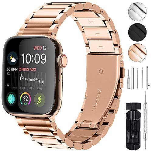 GerbGorb Für Apple Watch Armband 42mm 44mm 38mm 40mm, iwatch Armband Edelstahl Series 5/4/3/2/1, 40mm Gold