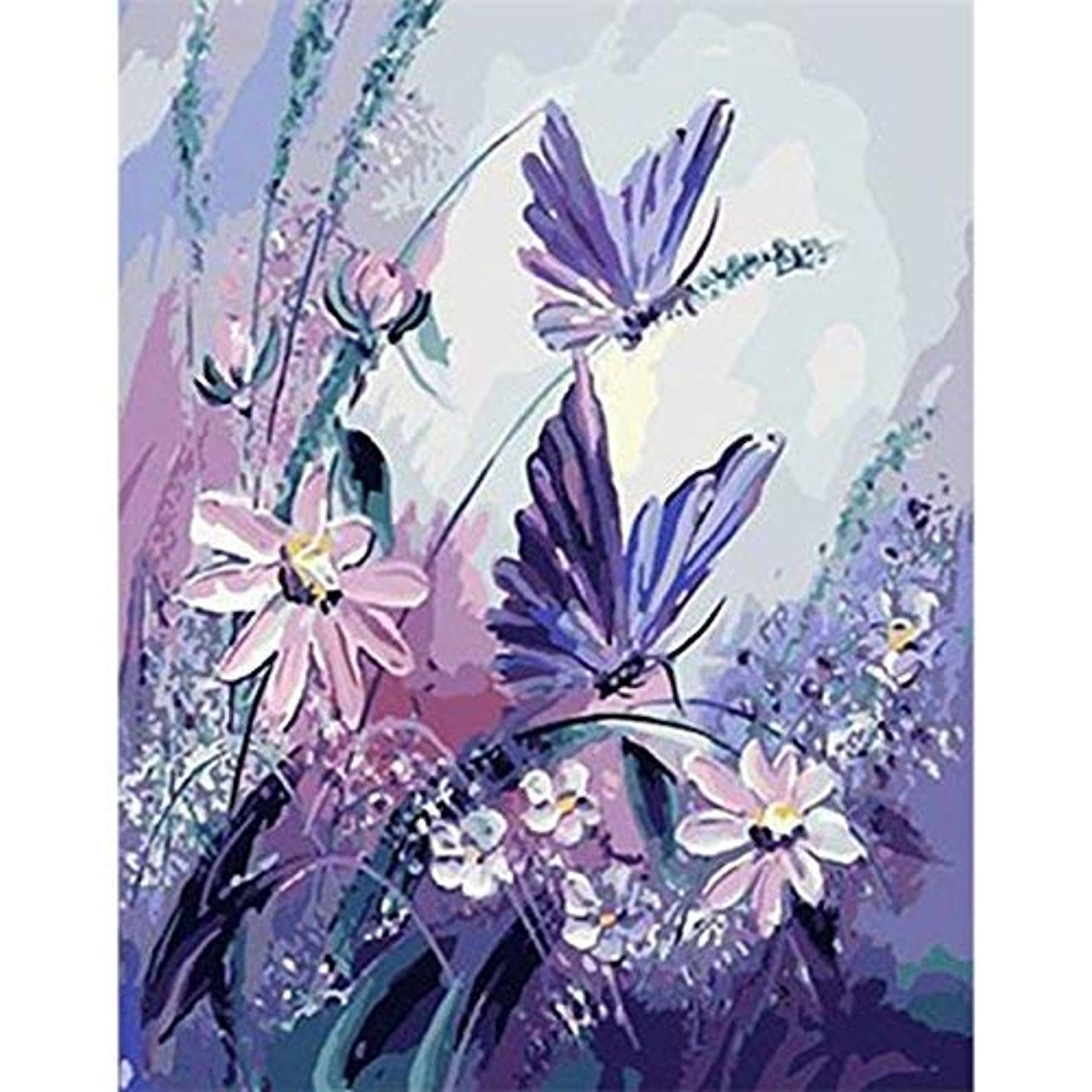 Paint by Numbers for Kids Adults DIY Oil Painting Kit Beginner - Crystal Butterfly 16