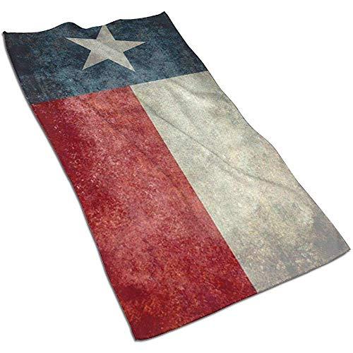 Texas State Flag Asciugamani in Microfibra Asciugamani Asciugamani ad Asciugatura Rapida Asciugamani Sportivi (40x70 cm) Uso per Viaggi, Fitness, Yoga