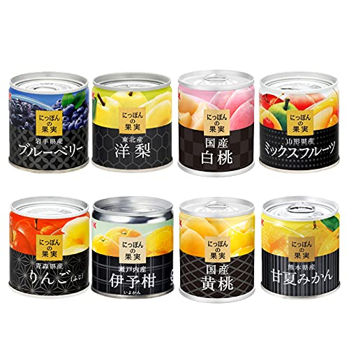 K&K 国分 にっぽんの果実 フルーツの缶詰 詰め合わせギフト 8缶セット