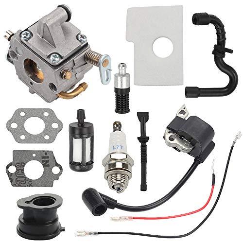 ATVATP C1Q-S57B Carburetor fit Sthil 170 Chainsaw Carburetor MS 170 MS 180 017 018 MS 170C MS 180C Chainsaw & 1130 400 1302 Ignition Coil 1130 124 0800 Air Filter